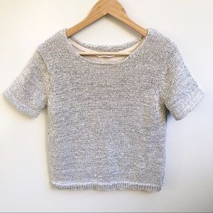 Seed M 12 Chunky Knit Lurex Short Sleeve Top